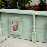 Wooden Cornice Headboard With Primitive by TheSavvyShopper1