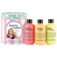 philosophy hooray for sorbet 3-in-1 shampoo, shower gel & bubble bath set