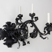 Circa 1920 large wrought iron single sconce