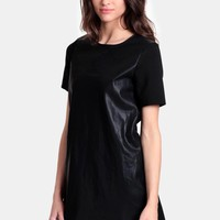 Can't Make Me Faux Leather Dress By MINKPINK