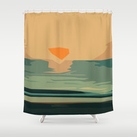 Sun Up Shower Curtain by Nuam