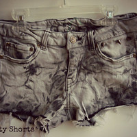 Acid Washed Shorts Studded 27 Inch Waist SALE by shortyshorts