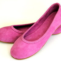 EVA Flats / womens shoes / Suede ballet flats sizes by BaliELF