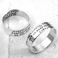 $50.00 Three Line Posey Custom Ring Sterling Silver by KathrynRiechert