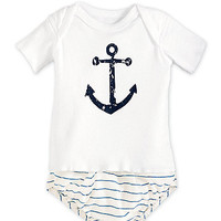 navy anchor baby set