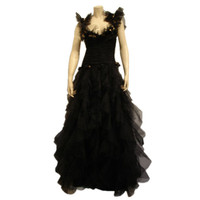 Loris Azzaro - 1980s Loris Azzaro Black Tulle Evening Gown