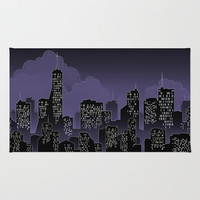 City Lights Area & Throw Rug by Texnotropio