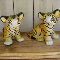 Vintage Tigers Cute Italian Italy Pair by honeystreasures