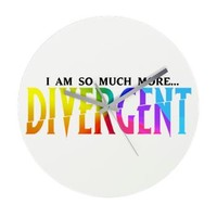 Divergent Colorful Frameless Wall Clock> Home Decor> Girl Tease