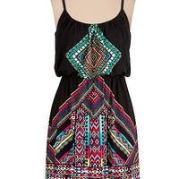 bright medallion print dress