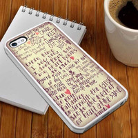 5SoS Lyrics case for iPhone 4/4s/5/5s/5c,Samsung Galaxy S3/s4 plastic & Rubber case, Phone.