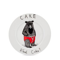 What Cake? Plate | Jimbob Art | Wolf & Badger