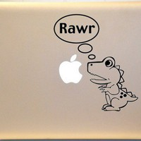 Dinosaur Macbook Decal Vinyl Sticker for Mac Laptop | KrazyKutz - Housewares on ArtFire