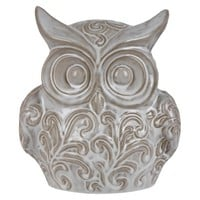 "10"" Ceramic Owl - White"