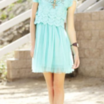 Crochet Lace Tulle Dress | Elusive Cowgirl