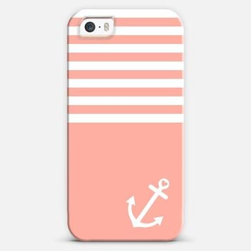 Coral Love Anchor Nautical iPhone 5s case by Organic Saturation | Casetagram