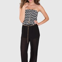 Hailey Chevron Jumpsuit