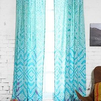 Plum & Bow Tie-Dye Curtain- Blue 52x84