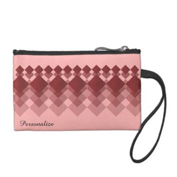 Coin Bag- Red Ruby Diamond Design