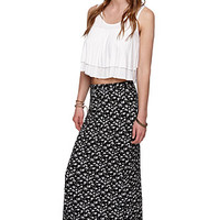 LA Hearts Knit Maxi Skirt - Womens Skirt - Black -