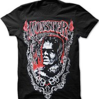 Monster Frank Men's T-Shirt - Darkside Clothing