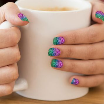 Minx Nails Drawing Floral Zentangle
