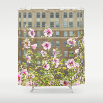 Spring in the City Shower Curtain by RichCaspian | Society6