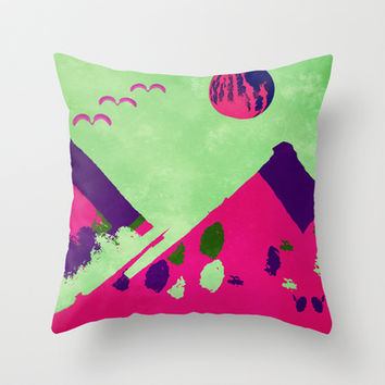 Watermelon  Throw Pillow by SensualPatterns