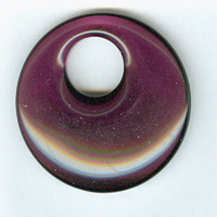 40mm Dark Purple Glass Gogo Pendant Bead Smooth Surface