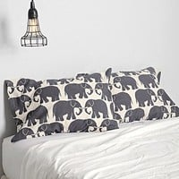 Magical Thinking Elephant Print Pillowcase - Set Of 2-