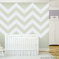 Chevron Stripes Style 2 Wall Art Decal