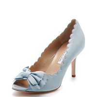 Scalto Peep-Toe Bow Pump