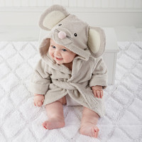 """Squeaky Clean"" Mouse Hooded Spa Robe 