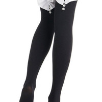 $14.99 Feeling Formal Thigh Highs | Mod Retro Vintage Tights | ModCloth.com