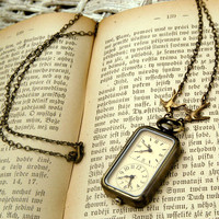 Double Watch Necklace - RagTraderVintage.com