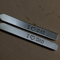 I love dad aluminum collar stays for birthdays and Fathers Day