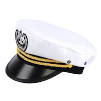 White Canvas Goth Navy Cosplay Costume Hat Cap Clothing Shop SKU-71108103