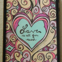 Love Is All You Need iphone case Iphone cover by TheGawkyGiraffe