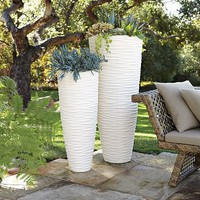 Textured Stone Planters | west elm