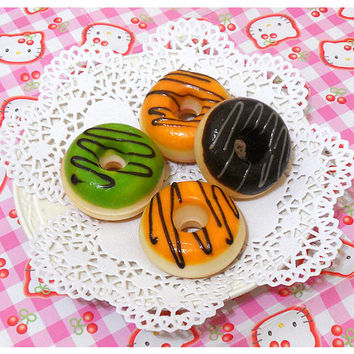 Squishy Scented Kawaii Sweet Donut Magnets - Green Tea . Orange . Chocolate . Bread Squishy Kawaii Decoden Kitchen Fridge Magnet