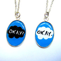 Okay? Okay. photo resin pendant necklaces (2 pieces)