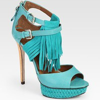 Boutique 9 - Nadeline Suede and Leather Fringe Platform Sandals - Saks.com