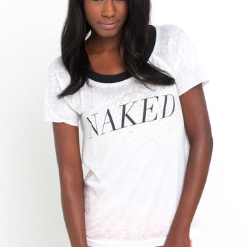 Naked Tee in White by Chaser LA at TAGS
