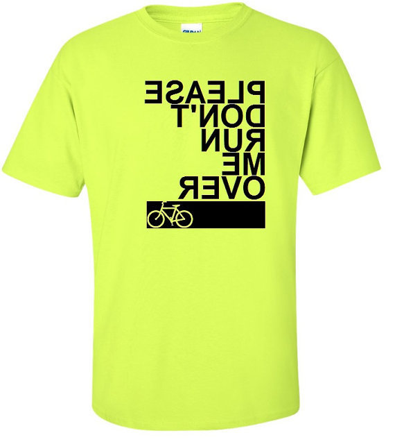Please Don't Run Me Over Bicycle TShirt Cyclist by meandmy3boys