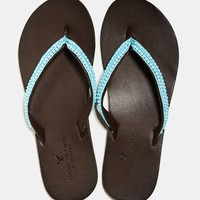AEO BEADED LEATHER FLIP FLOP