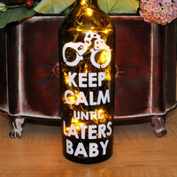 Fifty Shades of Grey Inspired  Wine Bottle Lights  by TipsyGLOWs