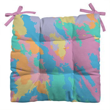 Rosie Brown Art Map Outdoor Seat Cushion