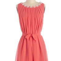 ModCloth Short Sleeveless A-line Pop the Question Dress