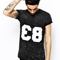 Reclaimed Vintage Baseball T-Shirt with Splatter Effect