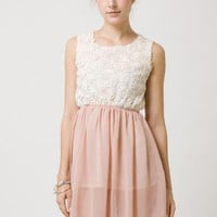 Multi Formal Dress - 3D Rose Bodice TopPastel Pink | UsTrendy